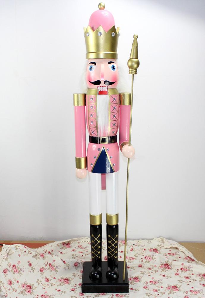 胡桃士兵 手绘木质胡桃夹子 家居装饰摆件礼品bj1405