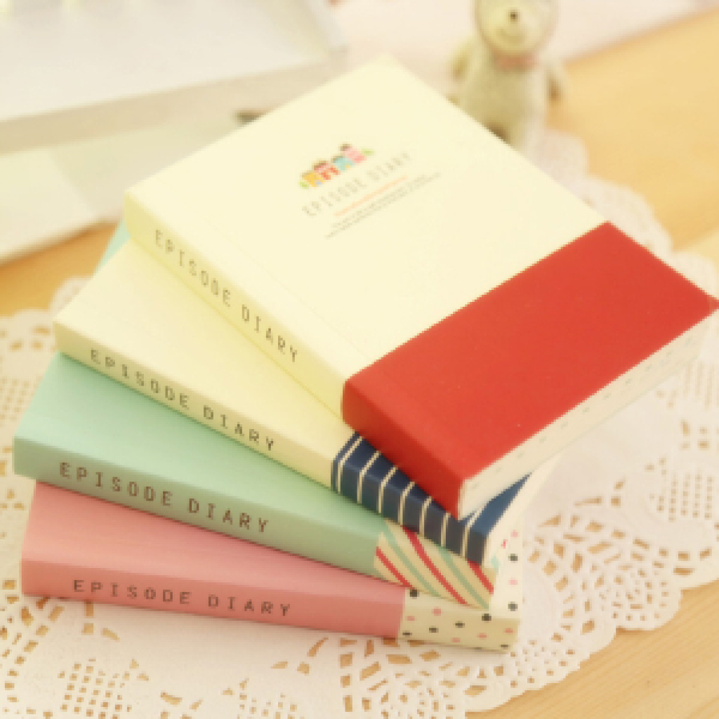 韩国文具 可爱小清新 创意超厚彩页纸笔记本/日记本子w