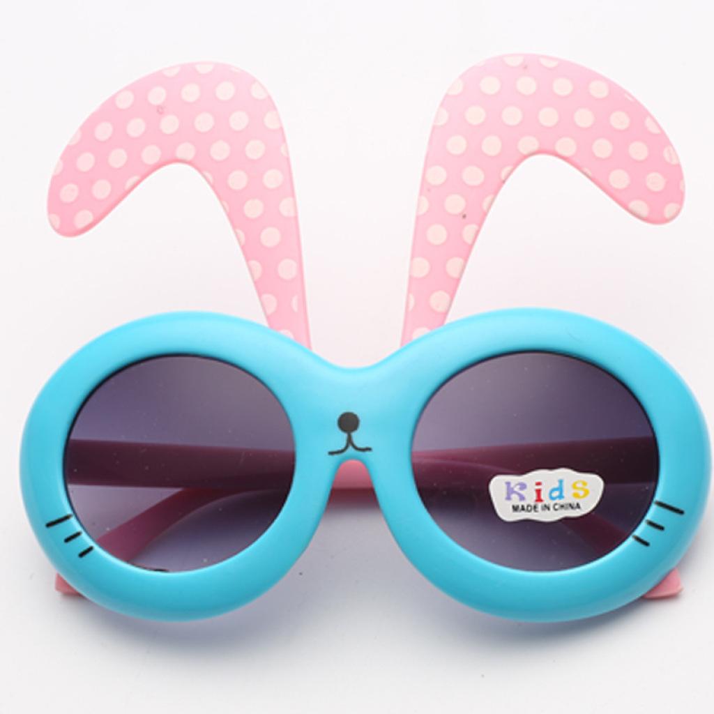 2015新款儿童兔子眼镜圆点夸张可爱卡通儿童太阳眼镜