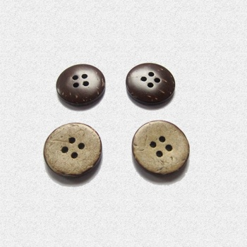 Natural coconut buttons color 4-eye children's clothing available green buttons on both sides