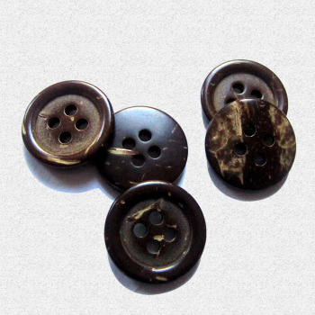 Natural coconut shell buttons four-eyed black fine boundary Cardigan coats for children clothing accessories