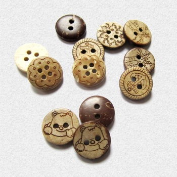 Children's coats Cardigan buttoned natural coconut buttons environmental decoration hot products