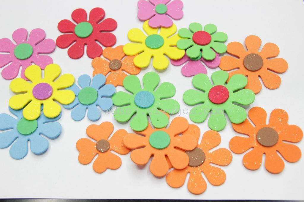 撒金粉剪纸,海绵纸,幼儿贴画剪纸,粉色斑点剪纸