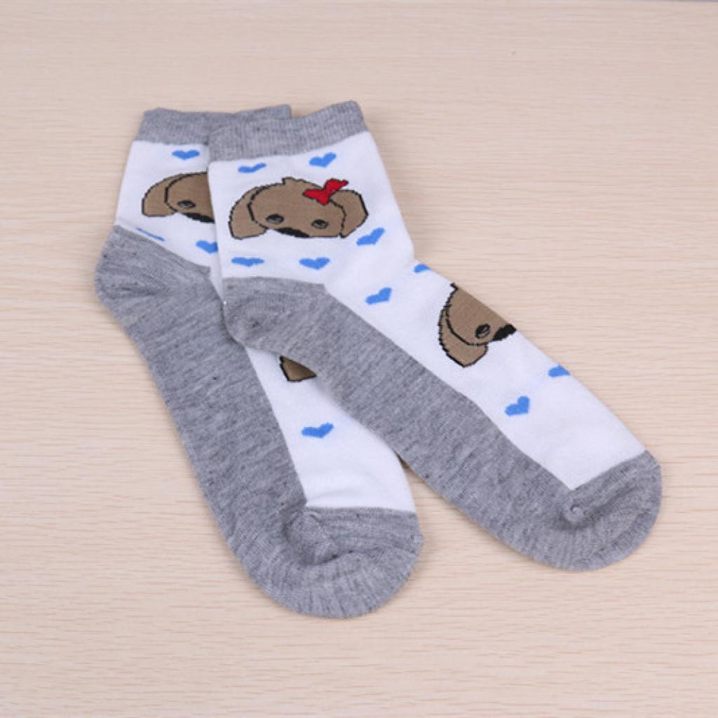 韩国可爱春秋纯棉运动动物女士袜子