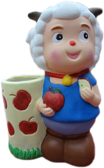 diy手工陶瓷彩绘 儿童智益玩具 白胚批发存钱罐 涂色