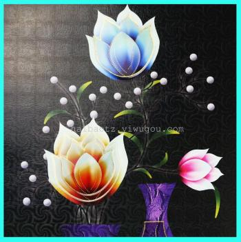 Wall sticker 5D embossed paper gold layers of special paper vases nontoxic powder stickers can be removed