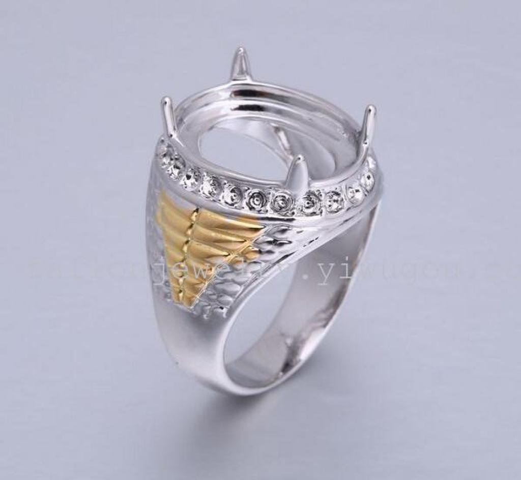 现货纯铜空戒托模抓镶带钻 印度尼西亚宝石 流行款式 戒指图片