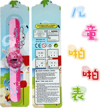 Electronic slap the toys of the child table cartoon e-Pat Peppa Pig men waterproof watches