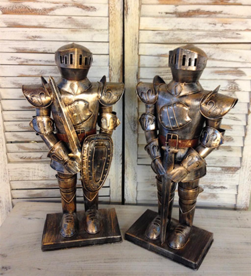 创意欧式时尚家居装饰品中世纪西洋骑士铠甲铁人工艺