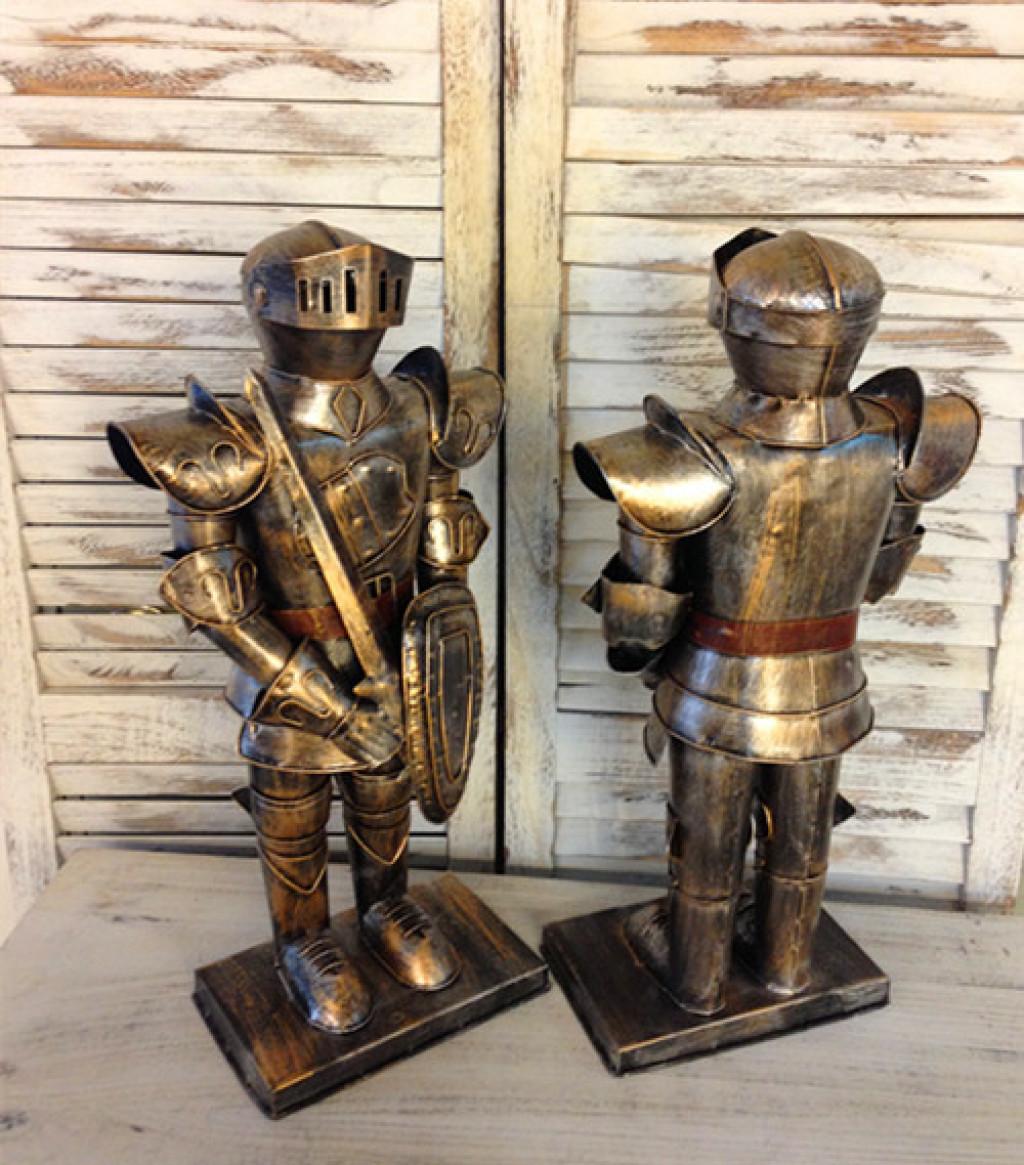 创意欧式时尚家居装饰品中世纪西洋骑士铠甲铁人工