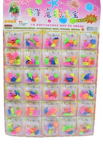 Scallop shells 30 PCs blister card hanging plate foam children's toys, inflatable toys