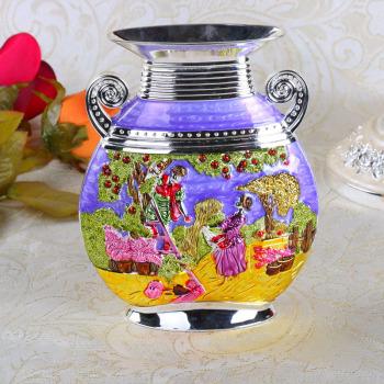 Alloy drop fashion continental metal vase Korean wedding vases home decoration ornaments