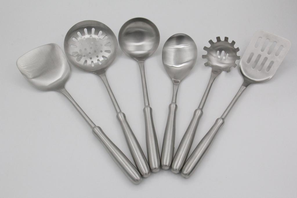 高档不锈钢厨具七件套7炒菜锅铲套装厨房炊具烹饪工具全套勺铲子