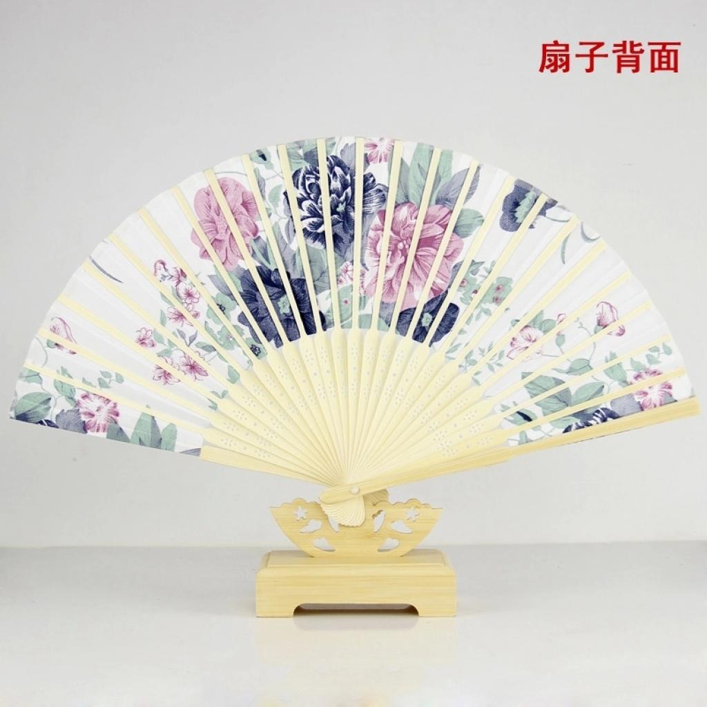 丝绸扇子古风 中国风女式古典小绢扇