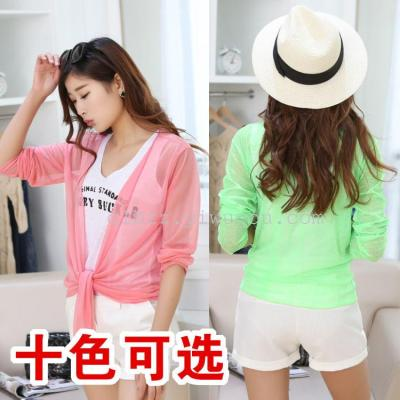 Summer dresses short burst clothes sweet wind-proof beauty yarn long sleeve Sun suit
