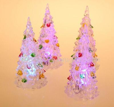 colorful colorful night light acrylic christmas tree christmas tree night lights crystal christmas tree night light