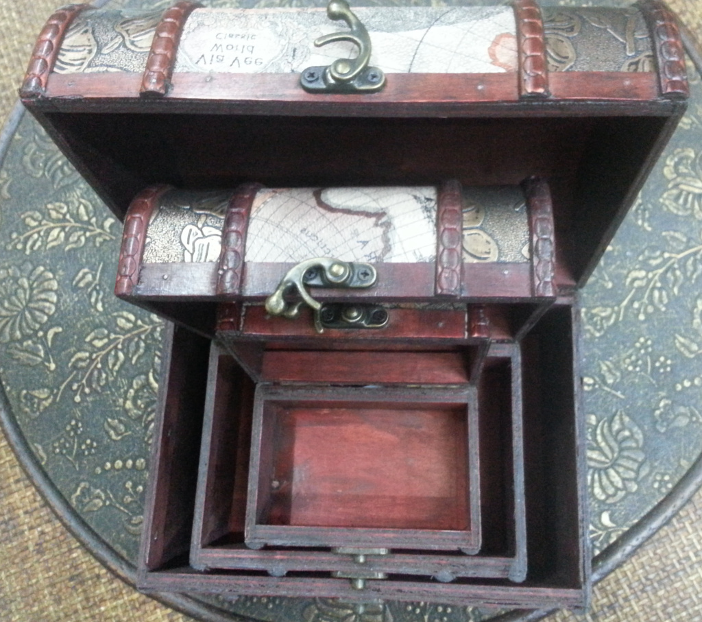 欧式复古木质百宝箱宫庭创意收纳盒仿古首饰盒饰品盒