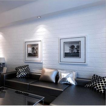 3d北欧风格白砖纹客厅餐厅卧室墙壁纸