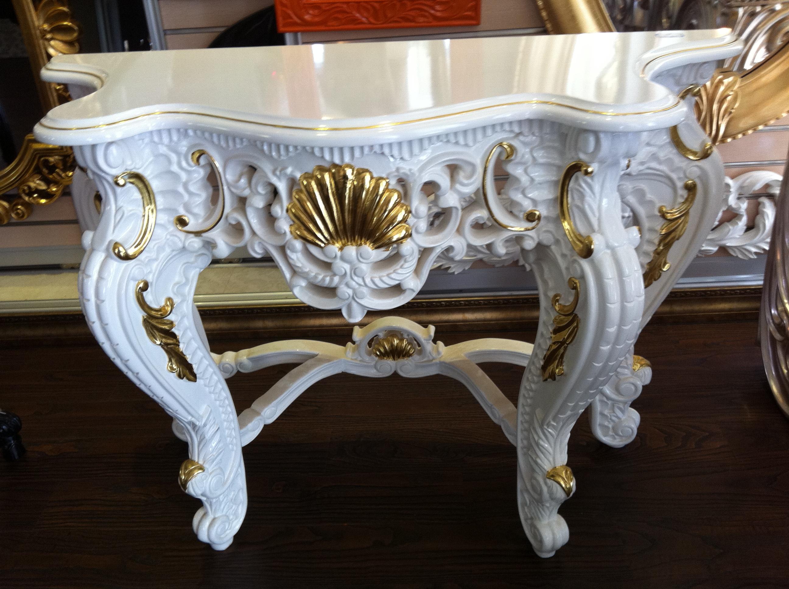 欧式pu玄关桌欧式古典仿实木 pu玄关桌子 梳妆台 过道