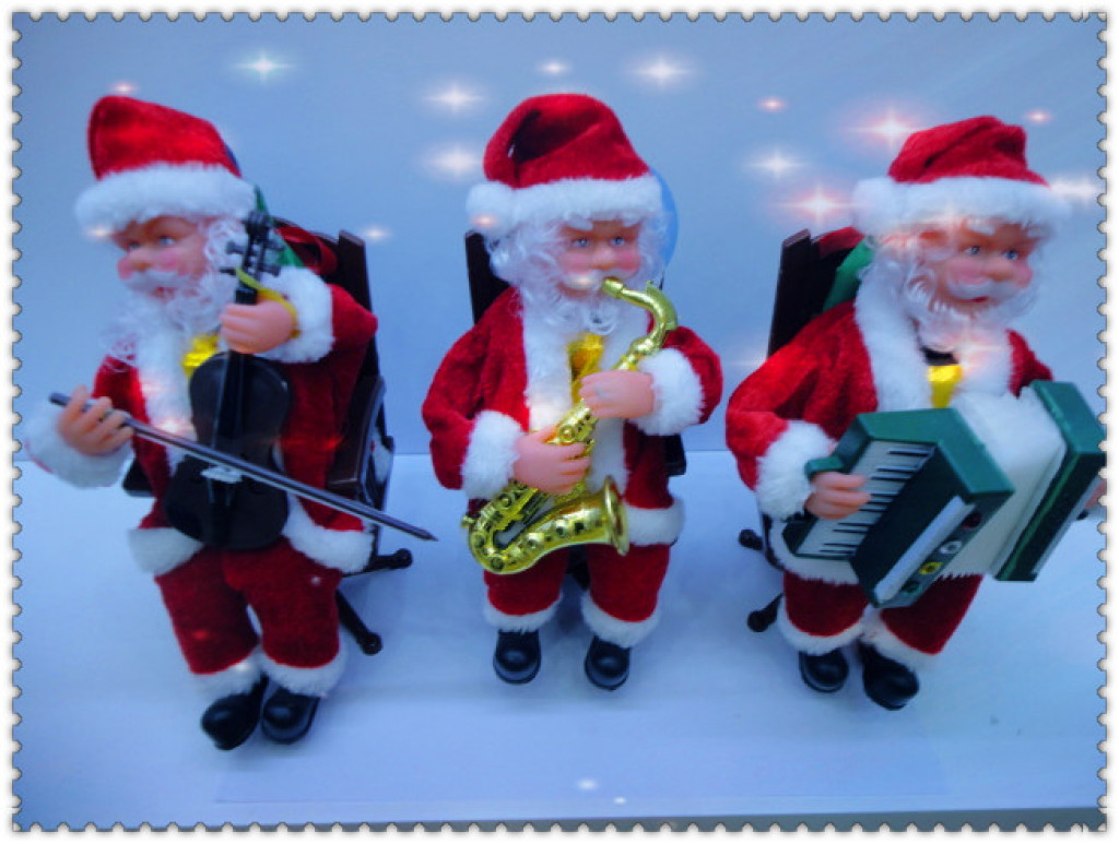 Supply 9123 Christmas old man christmas decorations electric chair-