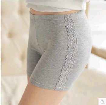 New vertical bars on either side elastic lace pants cotton summer female hot pants shorts new style leggings