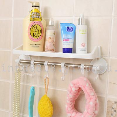 6110 suction cup dual-use powerful wall-mounted racks kitchen bathroom suction cup racks home daily