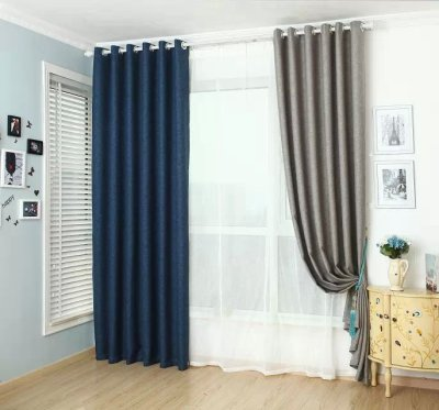 Linen curtain fabric works shade cloth customized foreign trade products