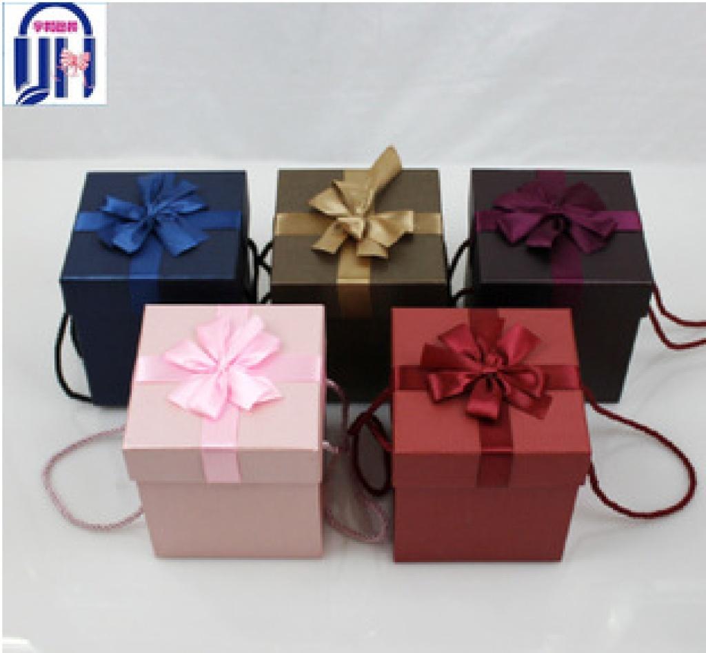 正方形立体蝴蝶结礼品包装纸盒