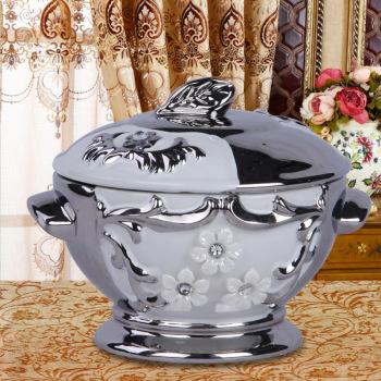 Decals diamond creative candy jar ceramic ornaments crafts modern European style home accessories storage jar