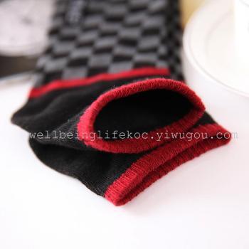 Spot printing solid color men's adult cartoon boat socks/socks/socks