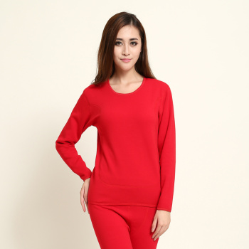 Winter women's thermal underwear set super thick super soft cotton padded and fleece double gold thermal underwear women