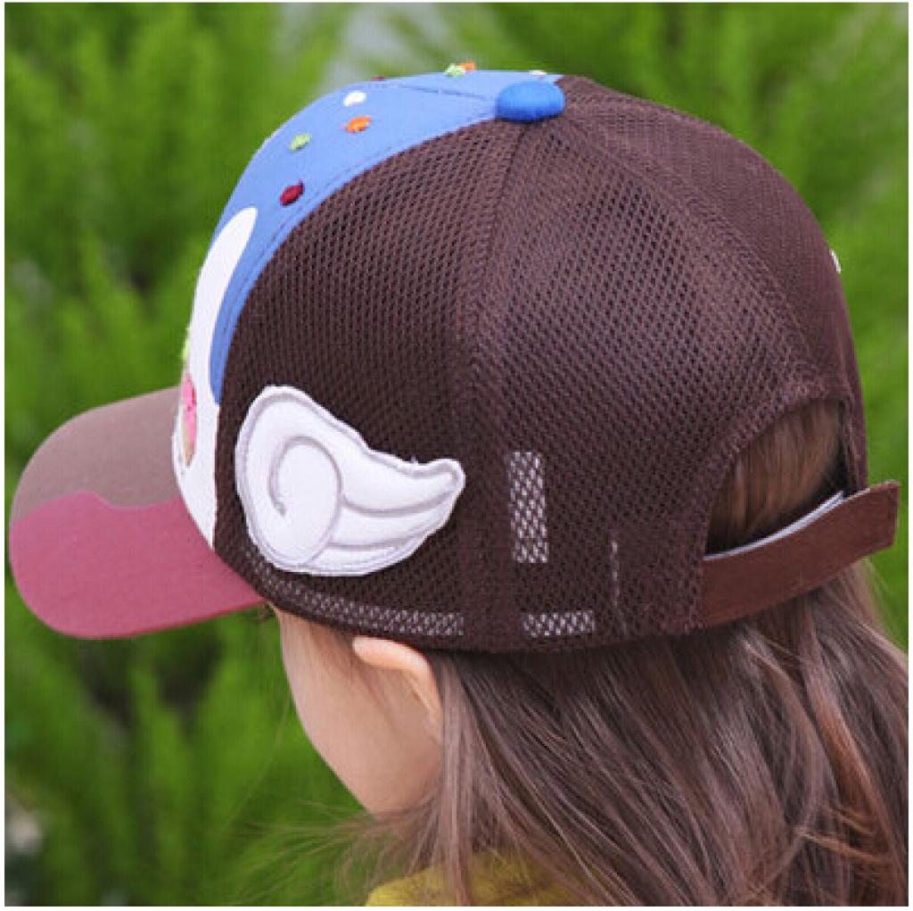 儿童网帽印花棒球帽卡通帽子可爱娃娃帽