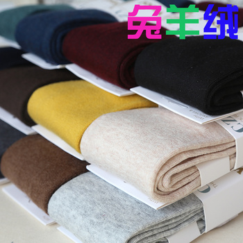 Language of spring and fall/winter flat the thick knit wool cashmere panty bottom socks warm pants 875