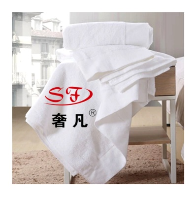 Five-star hotel in cotton white thick Platinum satin towel towels small square