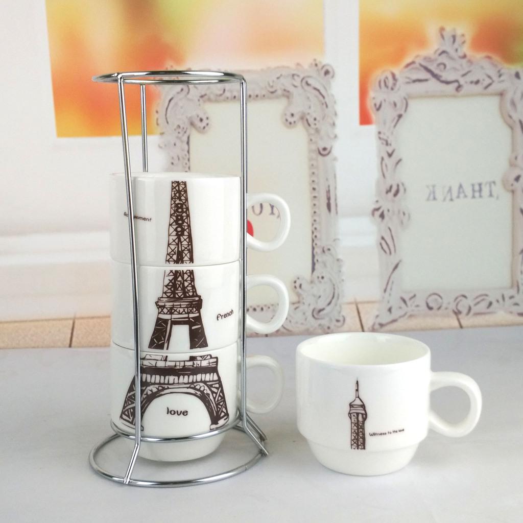 zakka埃菲尔铁塔叠叠杯系列陶瓷杯