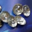 Satellite acrylic brass buckle Diamond White-tipped diamond stitching snap button sweater coat clothes button