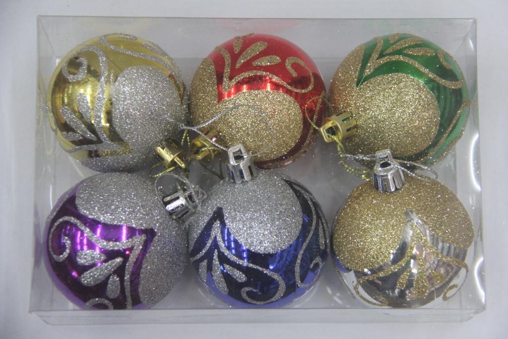 圣诞手绘球_羽煌工艺品