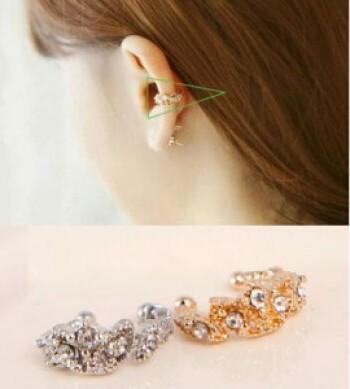 Korea fashion jewelry Joker studded ear clip the Korean version of stud earrings earring
