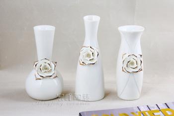 Ceramic hand-kneaded small vases in Phnom Penh