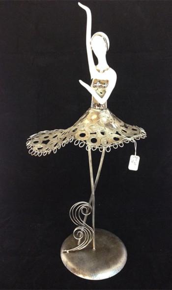 铁艺芭蕾舞创意客厅摆设摆件家居装饰品陶瓷工艺品人物欧美式婚庆-图片