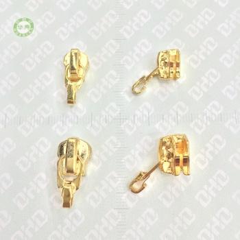 第 3、第 5、模倣金めっき銅スプリング ロック メタル ジッパー ファッション高級衣料品アクセサリー