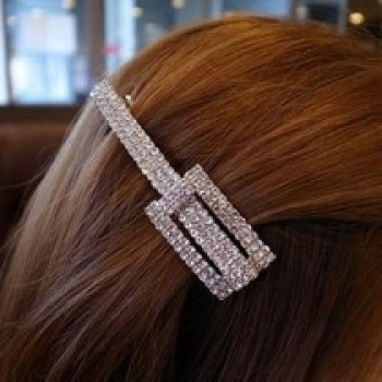Exquisite jewelry wholesale tiara with diamond Super diamond square long hairpin hair accessories clips female