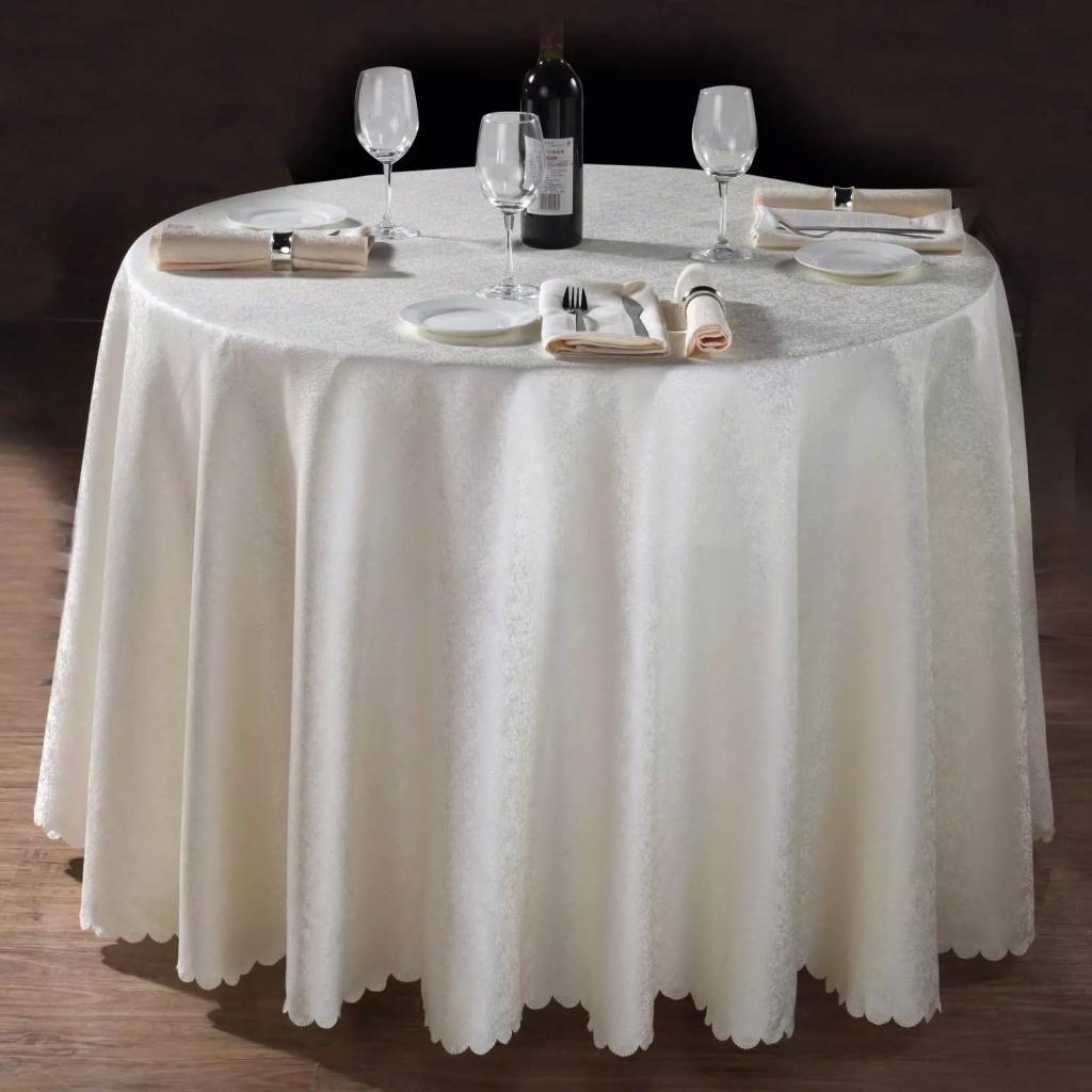 酒店饭店餐厅圆桌布台布长方形餐桌布欧式简约中式布