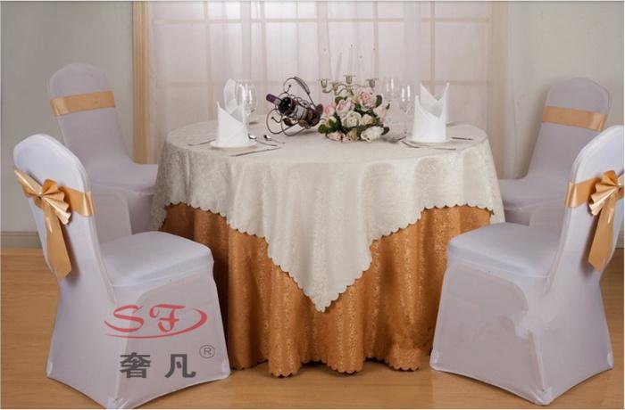 酒店饭店餐厅圆桌布台布长方形餐桌布欧式简约中式_奢