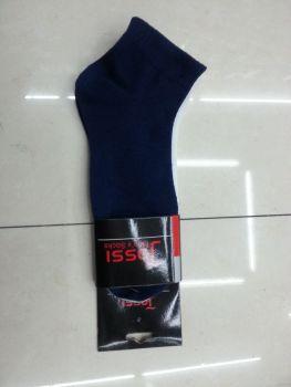 Factory direct Navy Blue men's socks men's socks polyester men's boat socks in tube men sport socks