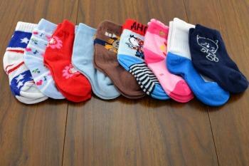 Polyester solid color infant baby boat socks children's breathable socks