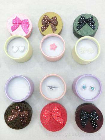 New lace round rings earrings box 5.4-higher 3.8CM