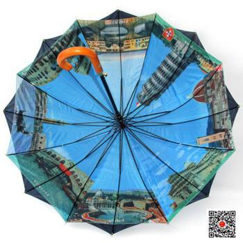 [1268t] Nueva doble super gran sombra sombrilla paraguas anti - ultravioleta al por mayor