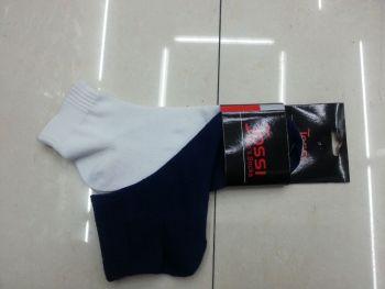 Factory direct bi-color male polyester men's boat socks socks men's socks in tube men's sport socks