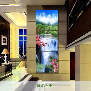 冰晶玻璃现代欧式客厅装饰画无框画卧室床头沙发背景